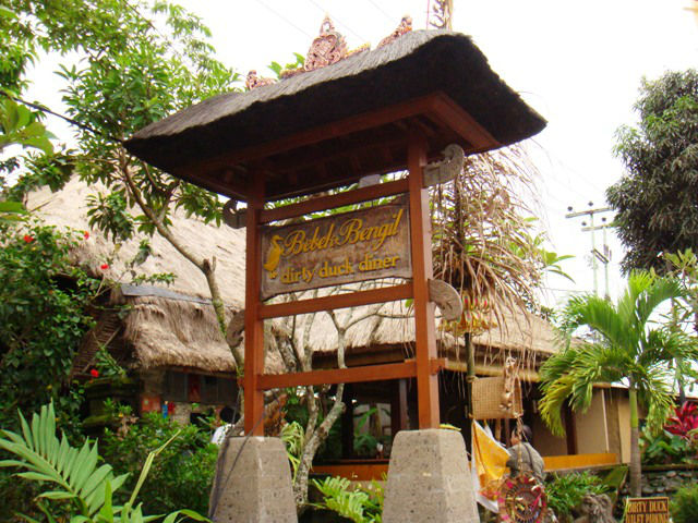 Bebek Bengil restaurant is known for Dirty Duck as main menu, Ubud, Indonesia