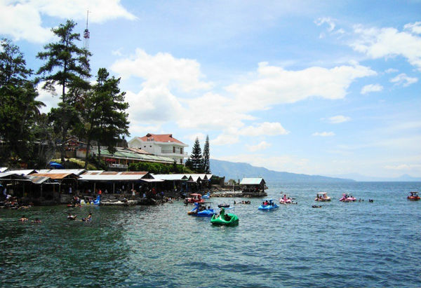 Natural scenery of Lake Toba, North Sumatera is very charming and full of peace.