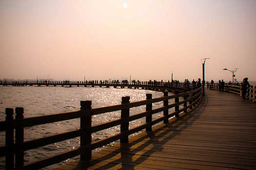 Beach at Ancol Dream Park, Jakarta, Indonesia