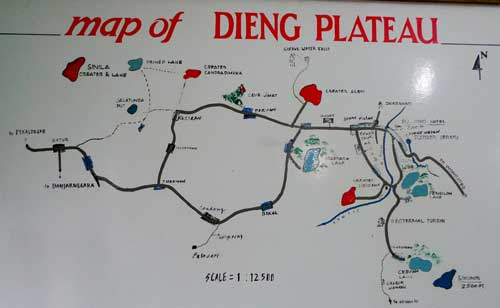 Attractions in Dieng Plateau Map