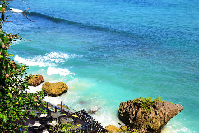 View over Ayana Bar, fine dining Bali, Indonesia
