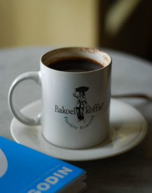 Bakoel Koffie, a historical coffee shop in Jakarta, Indonesia