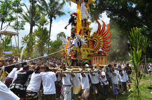 Bali cremation ceremonies in Indonesia