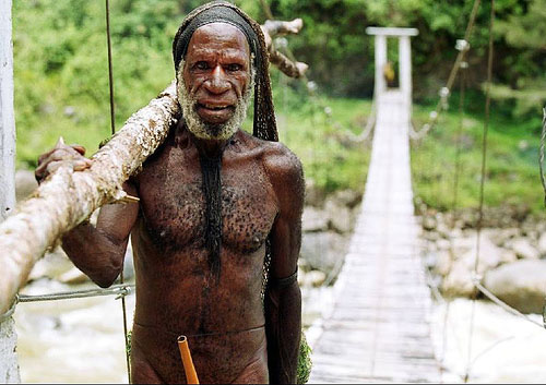 Man with Gourd Attire @ Baliem Valley, Papua, Indonesia