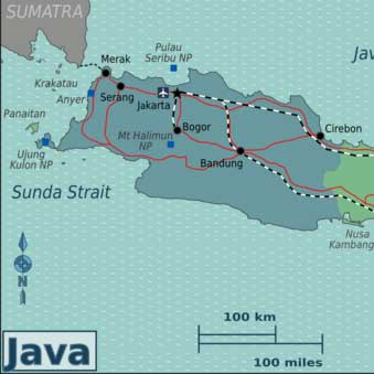 Bandung travel guide west java indonesia travel guide map of bandung java indonesia sciox Gallery