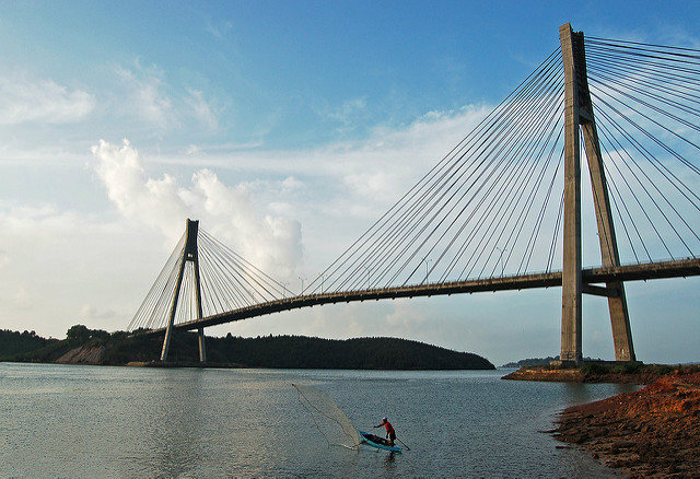 Barelang Bridge at Batam Island Indonesia
