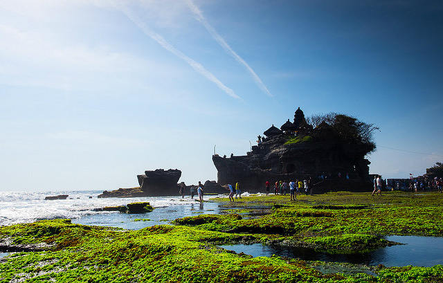 Beach and sea, Pura Tanah Lot Temple, Bali, Indonesia
