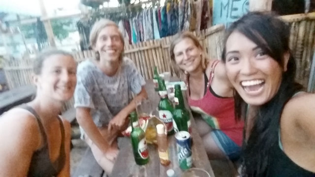 Beers at Sunset Bar, Lombok, Indonesia