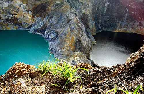 The blue and the black of Kelimutu Lakes, Flores