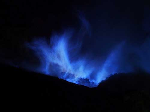 Blue Flames (Fire) at Ijen Crater