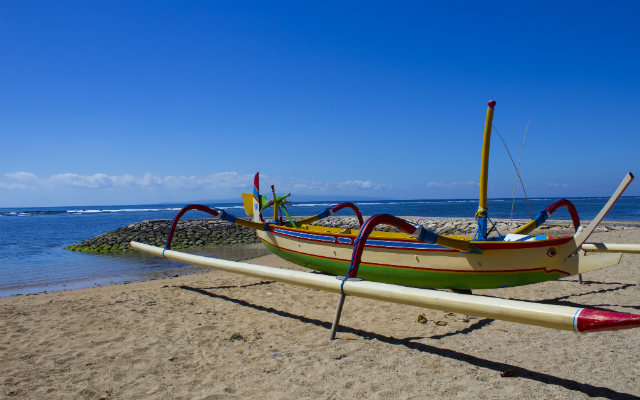 Boat at Sanur Beach, Bali, Indonesia