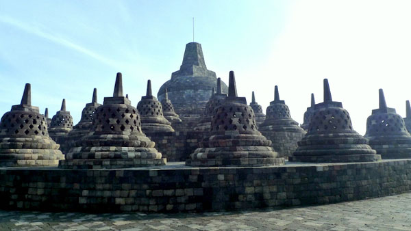 Tourist Attraction: Candi Borobudur (temple), Java, Indonesia