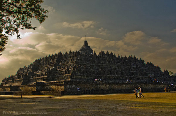 Full view of Borobudur Temple Compounds