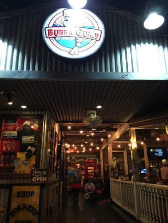 Dinner at Bubba Gump restaurant Bali, Indonesia