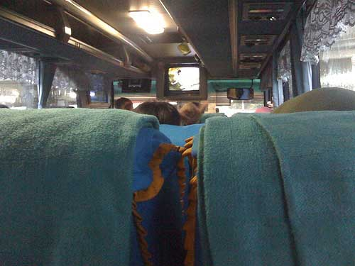 Inside the Bus in Indonesia