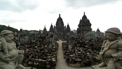 Candi Sewu (temple) at Yogyakarta