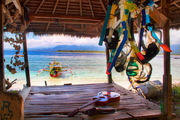 Dive Shop in Gili Air, Lombok, Indonesia