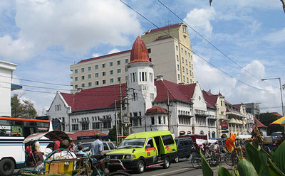 Dutch Colonial buildings in Surabaya, East Java, Indonesia Map