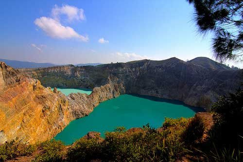 East Crater Lake of Mount Kelimutu, Flores