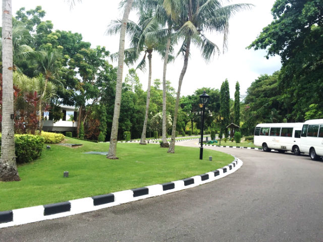 Entering Bintan Lagoon Resort, Indonesia