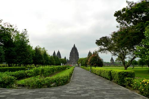 Entering to Prambanan Temple Compounds, Yogyakarta