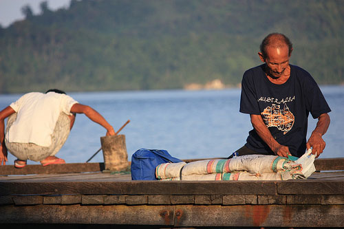 Fishermen at Togian Islands, Sulawesi, Indonesia