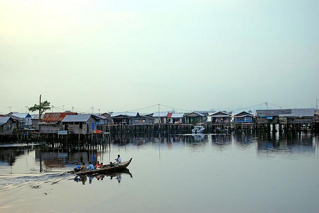 Fishermen Village at Batam Island Indonesia