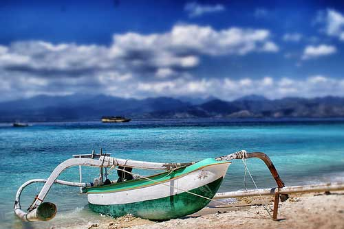 Fishing Boat in Gili Trawangan, Lombok, Indonesia