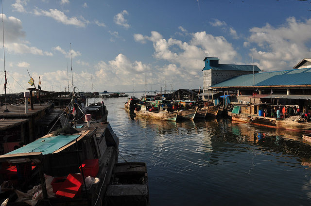 Fishing village at Bintan Island, Indonesia