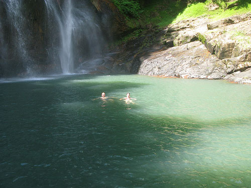 Swim in Waterfall Pool, Flores