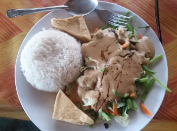 Gado-gado at Kuta, Lombok, Indonesia