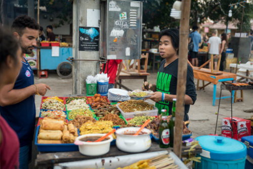 Night Food market at Gili Trawangan, Indonesia