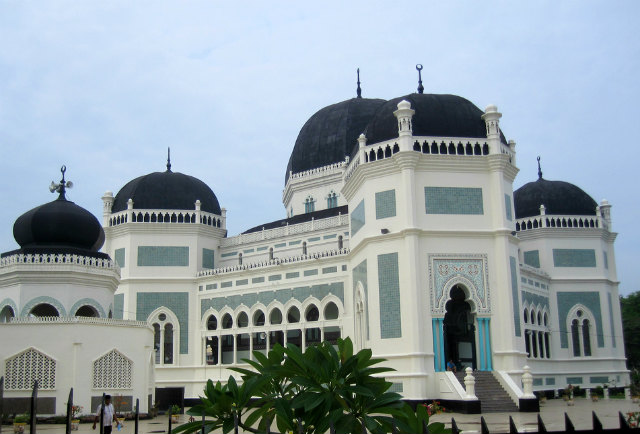 The great grand mosque of Medan, Sumatra, Indonesia
