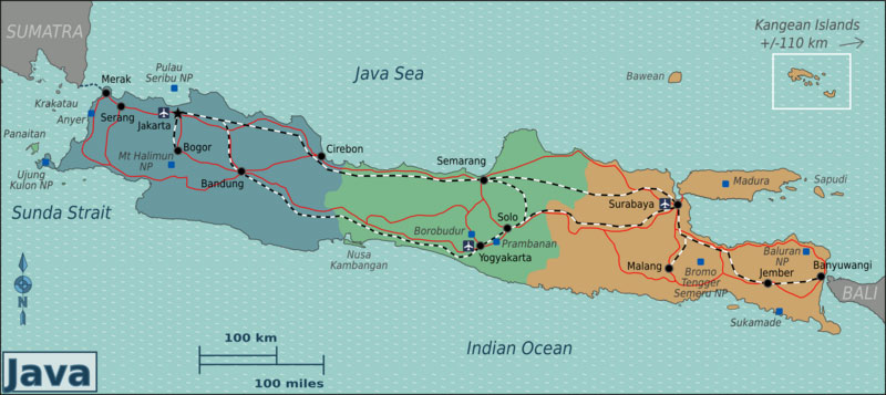 Indonesia Train Route Map