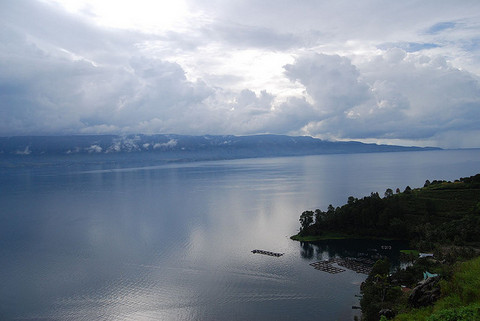 Largest Volcanic Lake at Lake Toba, Indonesia
