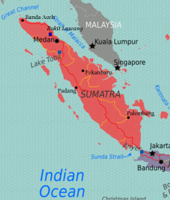 Bukit Lawang, Indonesia Sumatra Map
