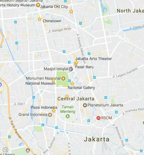 Jakarta's Tourist Attractions Map