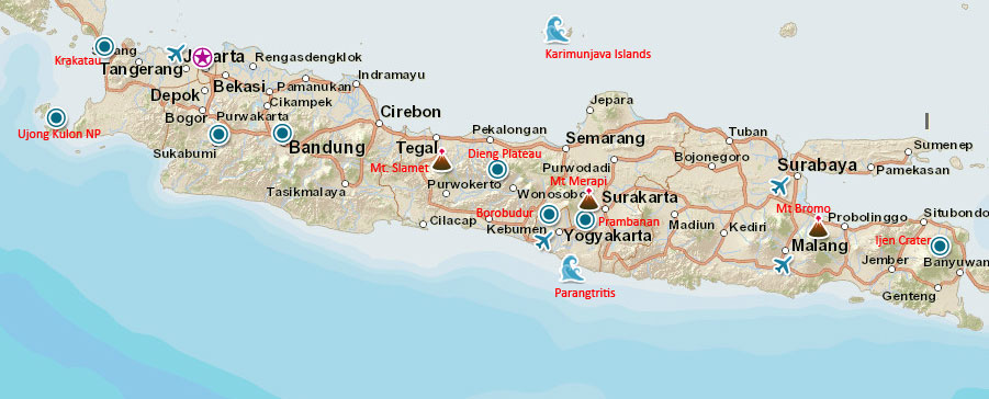Java Travel Map