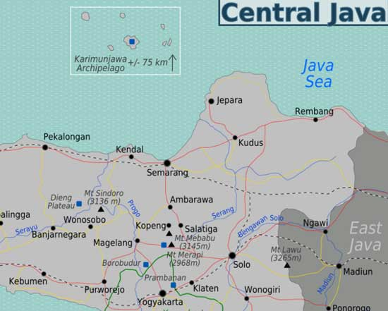 Karimunjawa Map, Central Java Indonesia