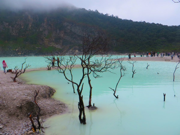 Excursion from Bandung to Kawah Putih Crater, Indonesia