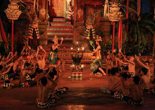 Kecak Dance Performance at Uluwatu Temple, Bali Indonesia