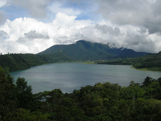 View of the lake at Bedugul, Bali, Indonesia