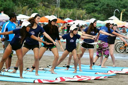 Learn to surf at Kuta Beach, Bali