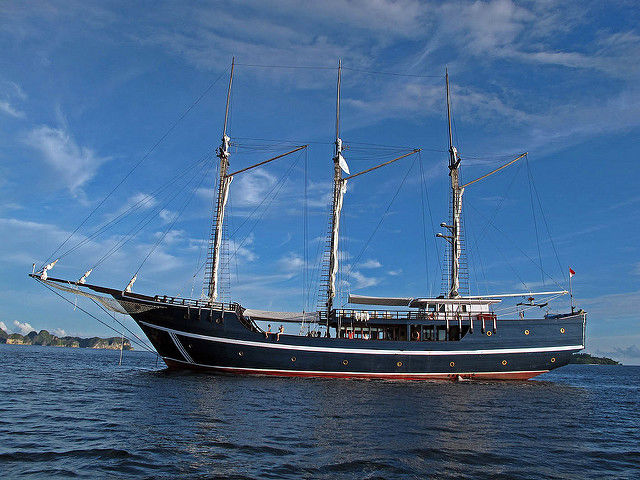 Liveaboard diving boat at Raja Ampat, Papua, Indonesia