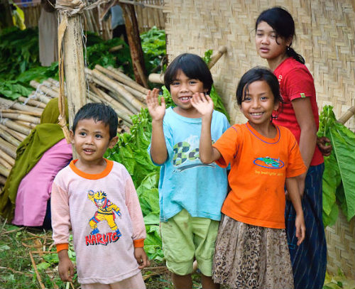 Kids in the villages, Lombok, Indonesia