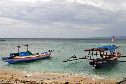 Long boats at Lombok, Indonesia