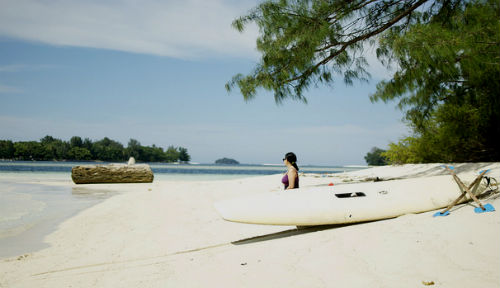 Pulau Macan at Thousand Islands, Java, Indonesia