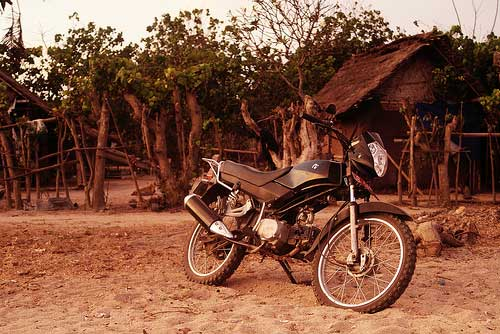 Motorcycle around Lombok, Indonesia