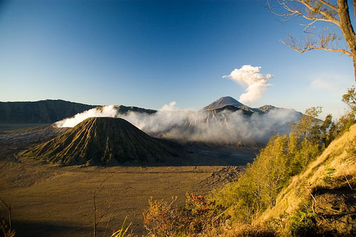 Mount Bromo and Mount Semeru, Java, Indonesia