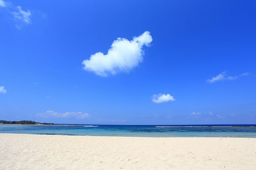 White sand beach at Nusa Dua, Bali